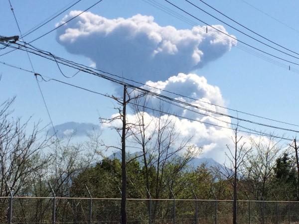 桜島が噴火