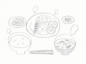 中吉屋の塩焼きサバ定食