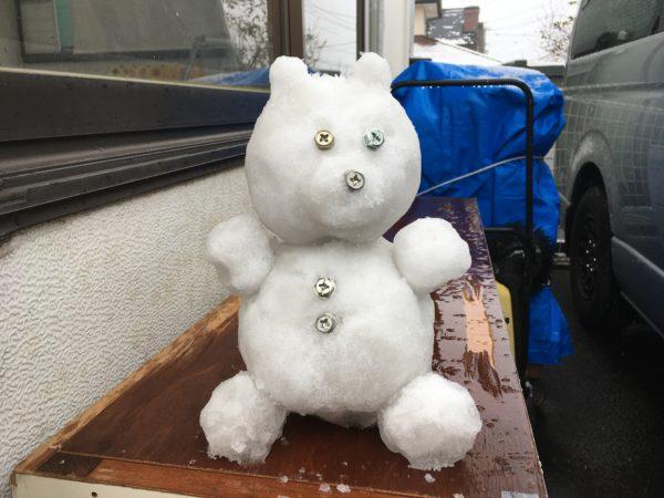 雪だるま(クマ)